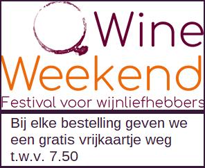 Vrijkaartje voor WineWeekend